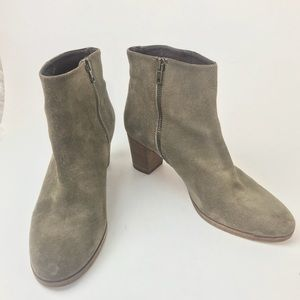 J. Crew taupe ankle boots size 9